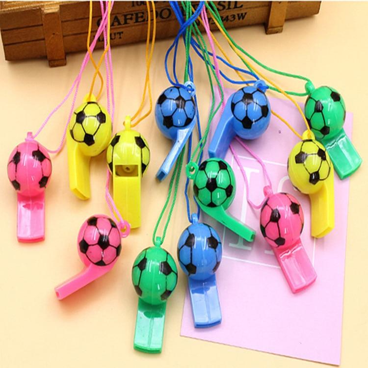 100% QualitäT Durch Dhl 2000 Stücke Fußball Fußball Oder Lächelndes Gesicht Pfeife Cheerleading Spielzeug Für Kinder Kinder Kunststoff Pfeifen Spielzeug Mit Seile