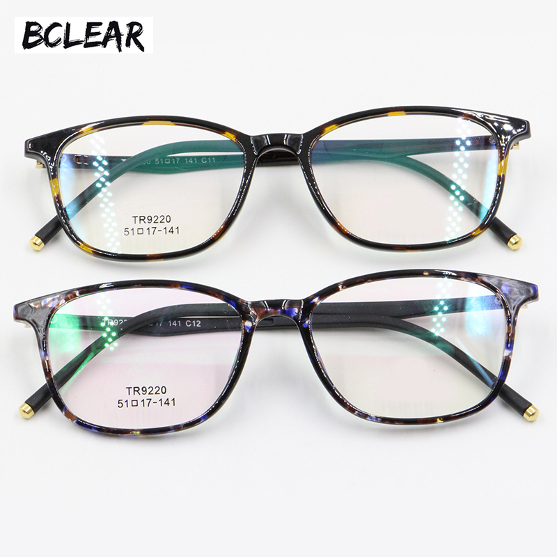 BCLEAR Women TR90 Vintage Eyeglasses Frame Top Fashion High Quality Multi Color Optical Frame Female Light Comfortable wearing