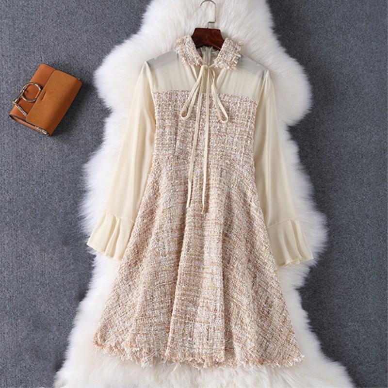Aliexpress Com Buy Elegant Flare Sleeve Wedding Dress: Aliexpress.com : Buy 2018 Autumn Winter Elegant Party