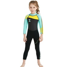 One-piece Girl Siamese warm swimsuit Neoprene Kids Diving Suit Wetsuit children for boys girls Keep Warm Long Sleeves UV protect