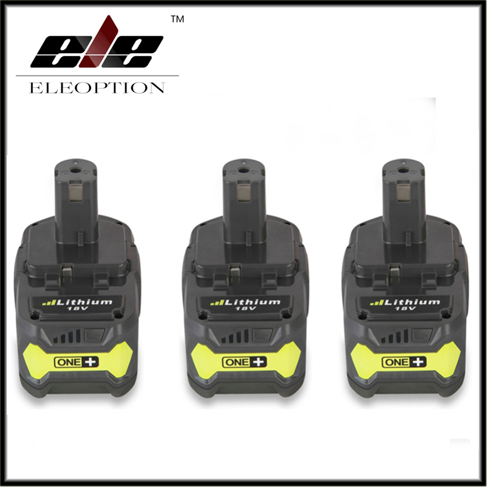 3PCS High Quality 18V 4000mAh For Ryobi Hot P108 RB18L40 High Capacity Rechargeable Battery Pack font
