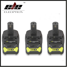 3PCS High Quality 18V 4000mAh For Ryobi Hot P108 RB18L40 High Capacity Rechargeable Battery Pack Power Tool Battery Ryobi ONE+