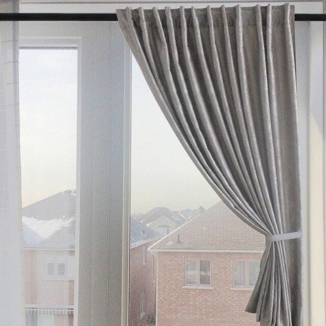 cinza blackout cortinas para o quarto cortinas modernas para janela