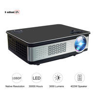 3500 Lumens Home Video Projector 3W Speaker Support 4K LED Projector 1920*1080 Full HD Native Resolution HDMI for TV/TV Box,PC