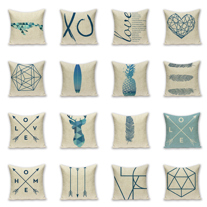 Decorative Pillows Geometric Outdoor Cushions Custom High Quality
