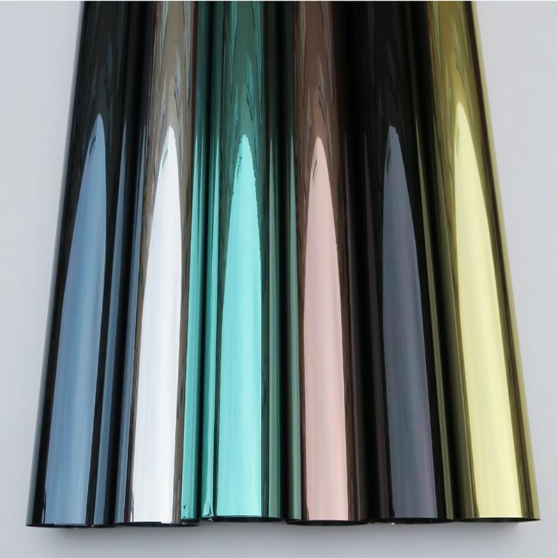 1 52x10m Wholesale Silver Heat Reduction Window Film Solar Tint Reflective One way Mirror sun block