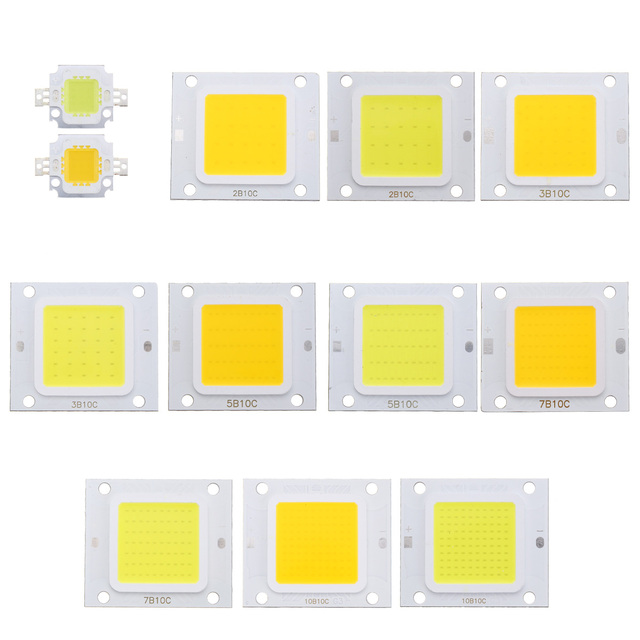 Smuxi 10W 20W 30W 50W 100W High Power Integrated LED Lamp Chips SMD Bulb For Floodlight Spot Light Warm White/White