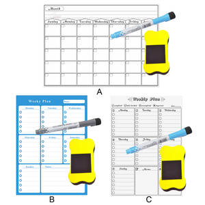 Magnet Dry-Erase-Board Weekly-Monthly-Planner Office with for Home Shops Removable Refrigerator