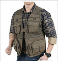 Free Shipping Brand Top Quality Mesh Vest Men's Military Vest Photography vests Plus Size XXXL