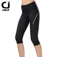 Cheji Womens Cycling Shorts Mountain Bike Bicycle Shorts 3D Gel Padded Breathable Mtb Riding Cycling Pants