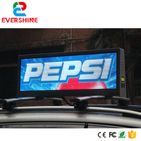 wireless wearable commercial taxi advertising digital message light rgb board 5mm P5 outdoor taxi top led display screen
