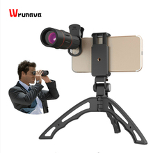 APEXEL 18X Telescope Zoom Mobile Phone Lens Monocular lens with mini selfie monopod tripod for iPhone X Xiaomi HUAWEI cellphone