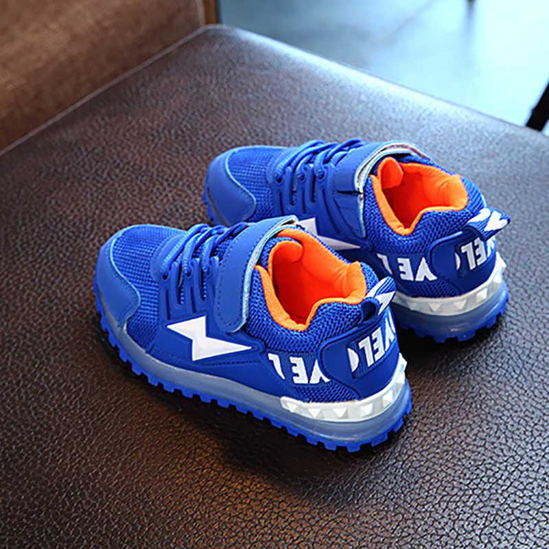 אופנה לפעוטות בייבי בנות בני LED אור זוהר נעליים רך Sole ספורט נעל נעלי הליכה נעליים חדש