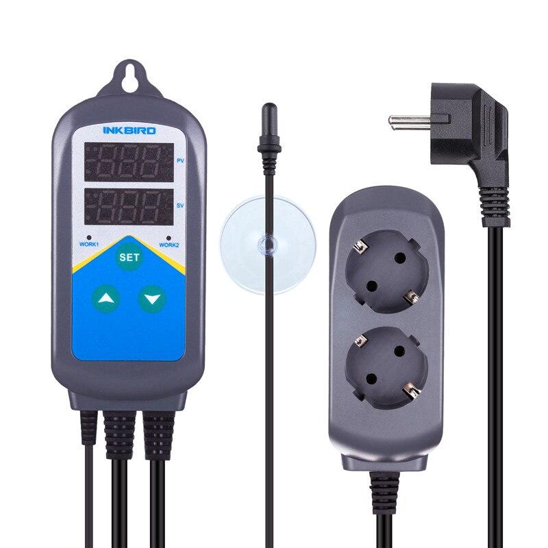 Inkbird-contrôleur de température, Thermostat, sonde daquarium, minuterie à double étage, pré-filaire, ue US AU UK ITC-306T