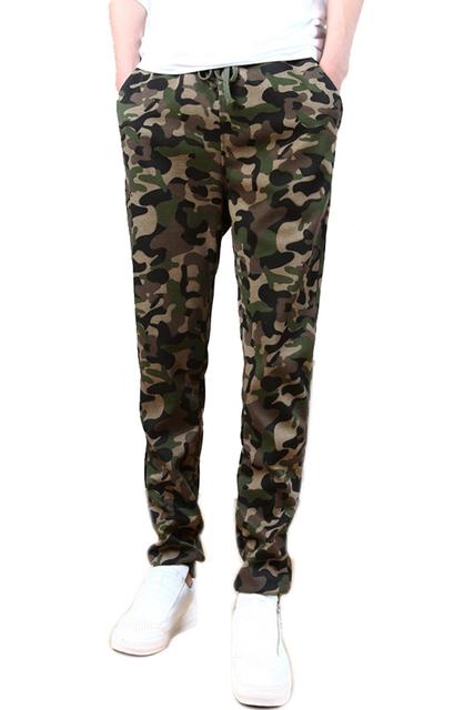 Venda quente de Outono Camuflagem Mens Corredores Harem Pants Sweatpants Ao Ar Livre Militar Do Exército Pantalon Magro Longo Calças Viagem Ocasional