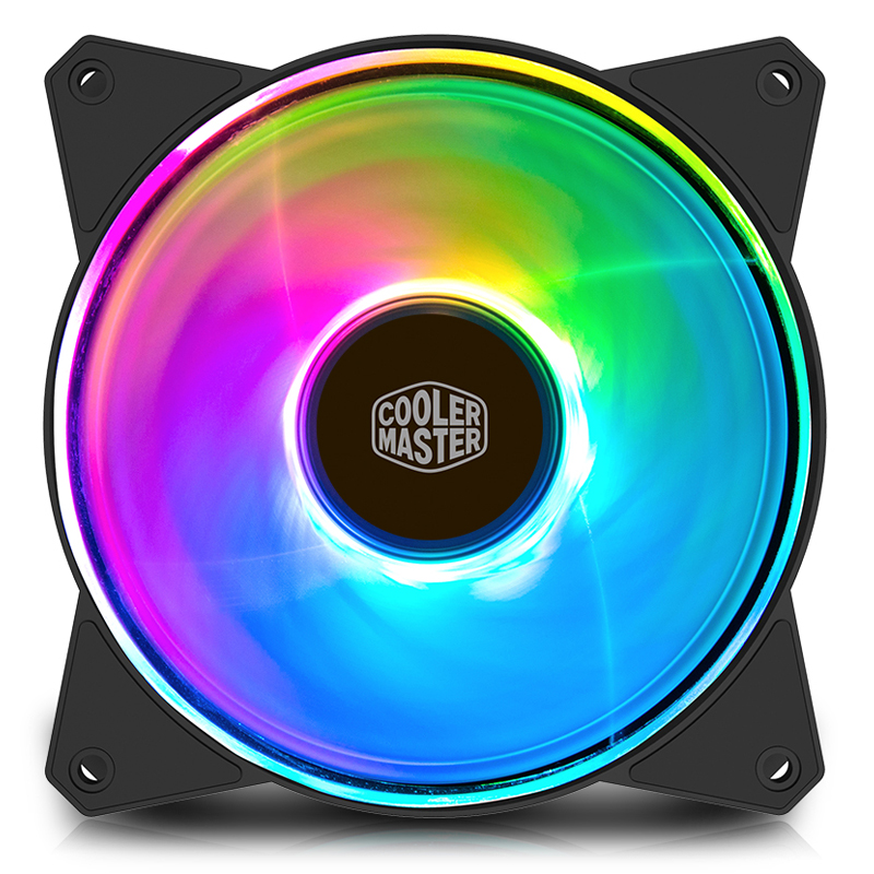 Cooler Master MF120A RGB fan 12cm 12V 4pin PWM Quiet case fan Suit for CPU cooler Liquid cooler 120mm computer cooling PC Fan computer case cooler 2pin 12v 4cm 40mm pc cpu cooling cooler fan black heat sink small cooling fan pc for arduino raspberry pi