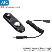 JJC kablolu kamera uzaktan kumandalı anahtar deklanşör bırakma denetleyicisi fotoğraf makinesi kablosu OM D E M1 Mark III OM D E M1 Mark II OM D E M5 II