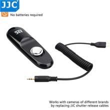 Jjc com fio câmera interruptor remoto do obturador liberação controlador cabo para olympus OM D E M1 mark iii OM D E M1 mark ii OM D E M5 ii