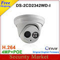 Versão Original Em Inglês DS-2CD2342WD-I 4MP câmera dome CCTV câmera IP POE IR IP67 mini EXIR Turret Rede WDR IPC DS-2CD2342WD-I