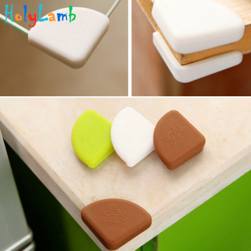 4Pcs/Lot Baby Kids Silicon Arc Corner Protector Table Desk Edge Safety Guards Bumper Protection From Children Baby Safety Child
