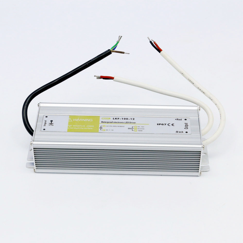 Ip67 Waterproof Electronic Led Driver Dual Output Dc 12V 8.5A 100W 5pcs lot adp3110akcpz adp3110ak adp3110a 3110a l3e dfn8 dual bootstrapped 12 v mosfet driver with output disable