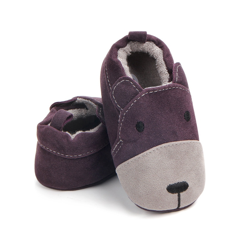 Infant Girl Boy Soft Non-Slip Sole Baby Shoes Moccasins First Walker Autumn Baby Warm Shoes Blankets Baby Nubuck Leather Shoes
