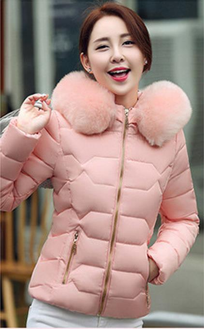 Winter New Large Size Cotton Clothing Women Short Paragraph Korean Version Of The Cotton Collar Cotton Jacket Jacket