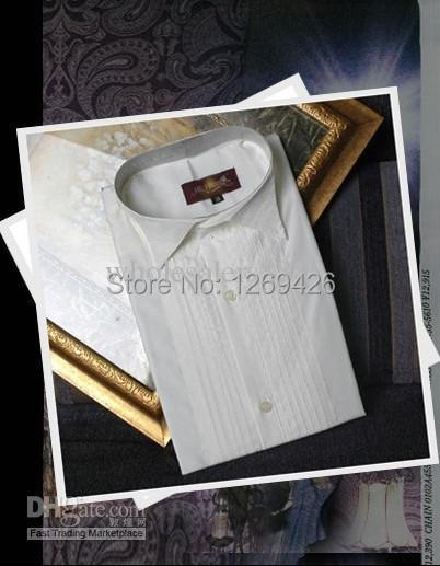 2014 New Style White Men Wedding/Prom Groom ShirtsWear Bridegroom Man Shirt ( 38--46 ) D52