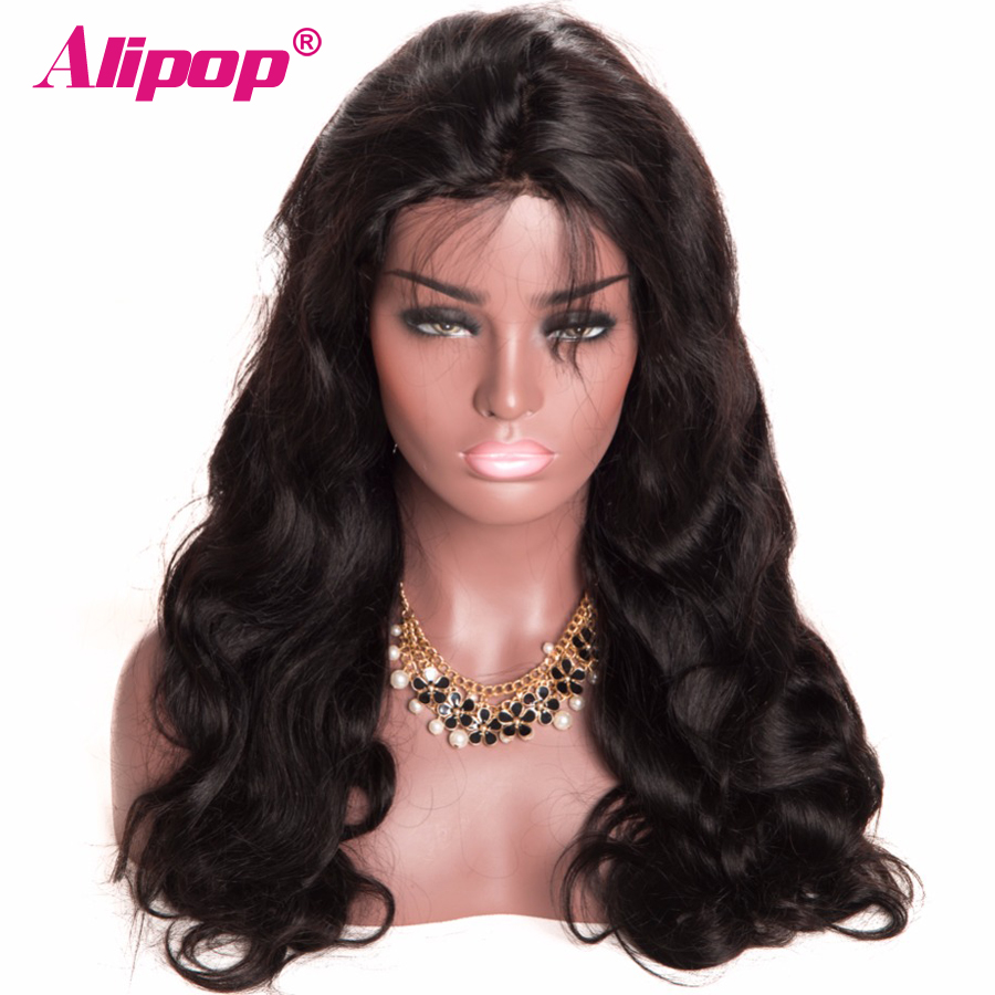 [ALIPOP] Pre Plucked Brazilian Lace Front Human Hair Wigs With Baby Hair 8''-24'' Body Wave Lace Wig For Black Women Non-Remy  (3)