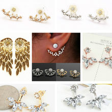 1pcs Attractive Metal Process Luxury Dangle Drop Earrings For Women Round With Cubic Zircon Charm Flower Earring Women Jewelry(China)
