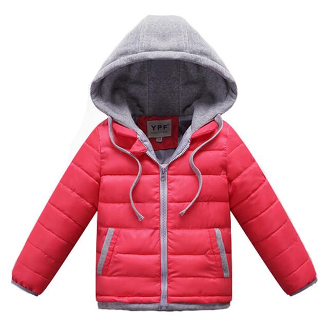 Casacos de inverno Para As Meninas 2017 Crianças Novas de Inverno Com Capuz de Algodão-acolchoado Jacket Meninos Meninas Infantil Jaqueta Casaco de Inverno Menina casaco