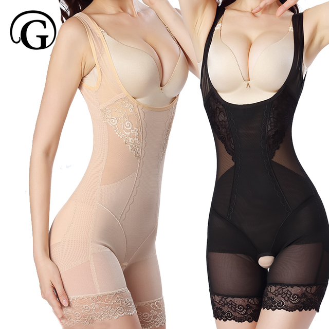 9afe4aa3993fc PRAYGER Women M-3Xl Lace Shapewear Body Shaper thigh Waist Cincher Firm  Bodysuit Tummy Control Underbust Slimming Underwear