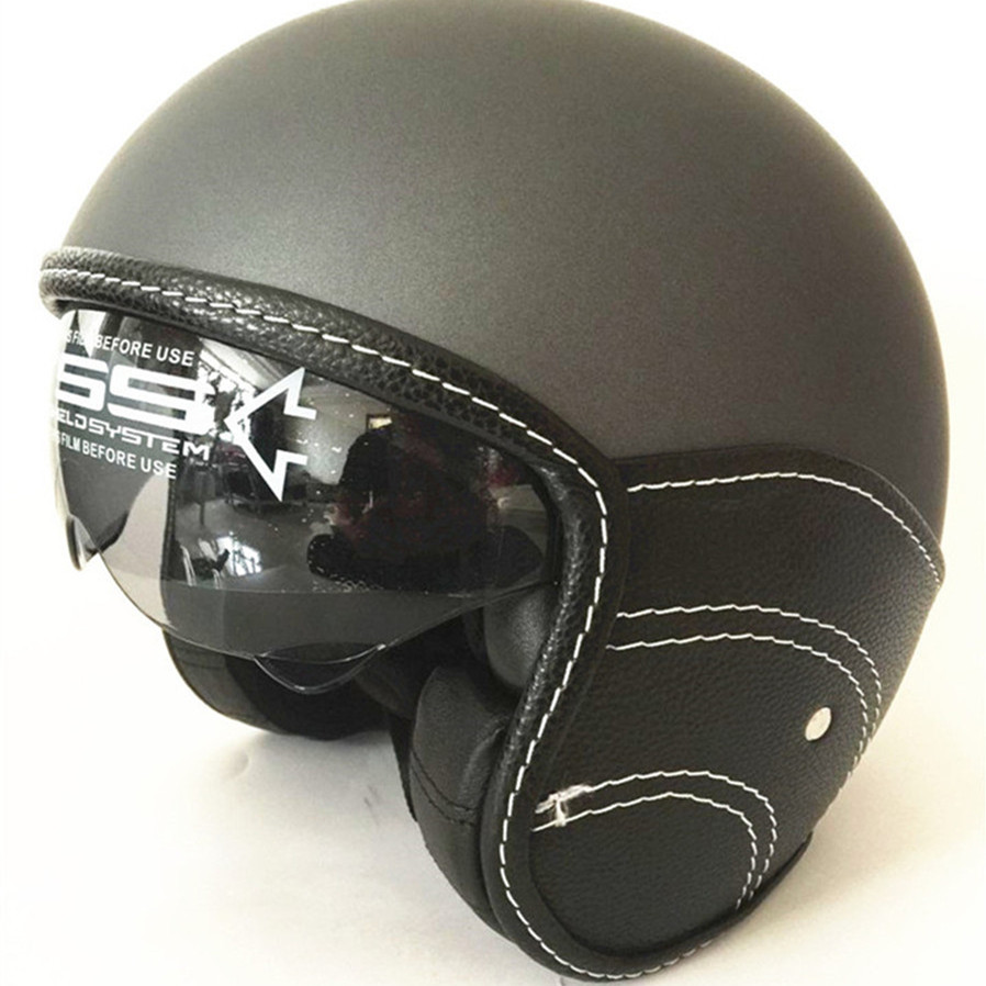 Motorcycle Open Face Classic Jet Helmet Scooter Inner Sun Visor SonicMoto Motorbike Unique Vespa Harley Brand
