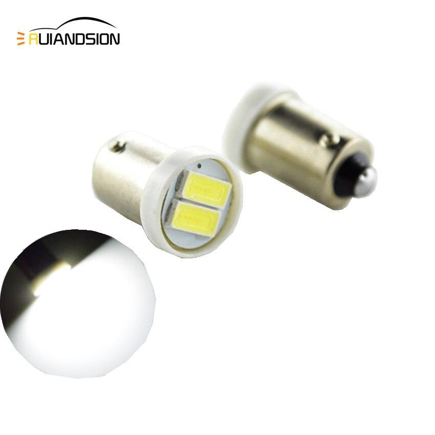 1pc White Bulbs BA9S BAX9S BAY9S T4W H6W H21W Led 12V 24V Car LED 5730 2 SMD LED Interior Bulbs Reading Light Car Light Sourse