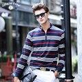 ДЖУНГЛИ ЗОНЫ мужчины хит цвет высококачественной трикотажной полосатой polo рубашки мужские с длинными рукавами polo рубашка бренд мужской 'ы поло alh008