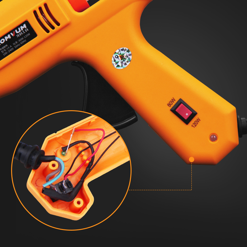 LONVUM  Professional High Temp Hot Melt Glue Gun 30W Graft Repair Heat Gun Pneumatic DIY Tools Hot Glue Gun