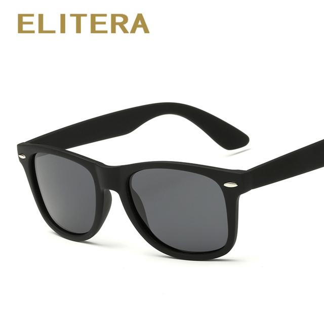 ELITERA Fashion Sunglasses Men Polarized Sunglasses Men Driving Mirror Coating Points Black Frame Eyewear Male Sun Glasses UV400