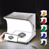 PULUZ Mini LED Photography Shadowless Light Lamp Panel Pad + Studio Shooting Tent Box lightroom Studio Softbox lightbox