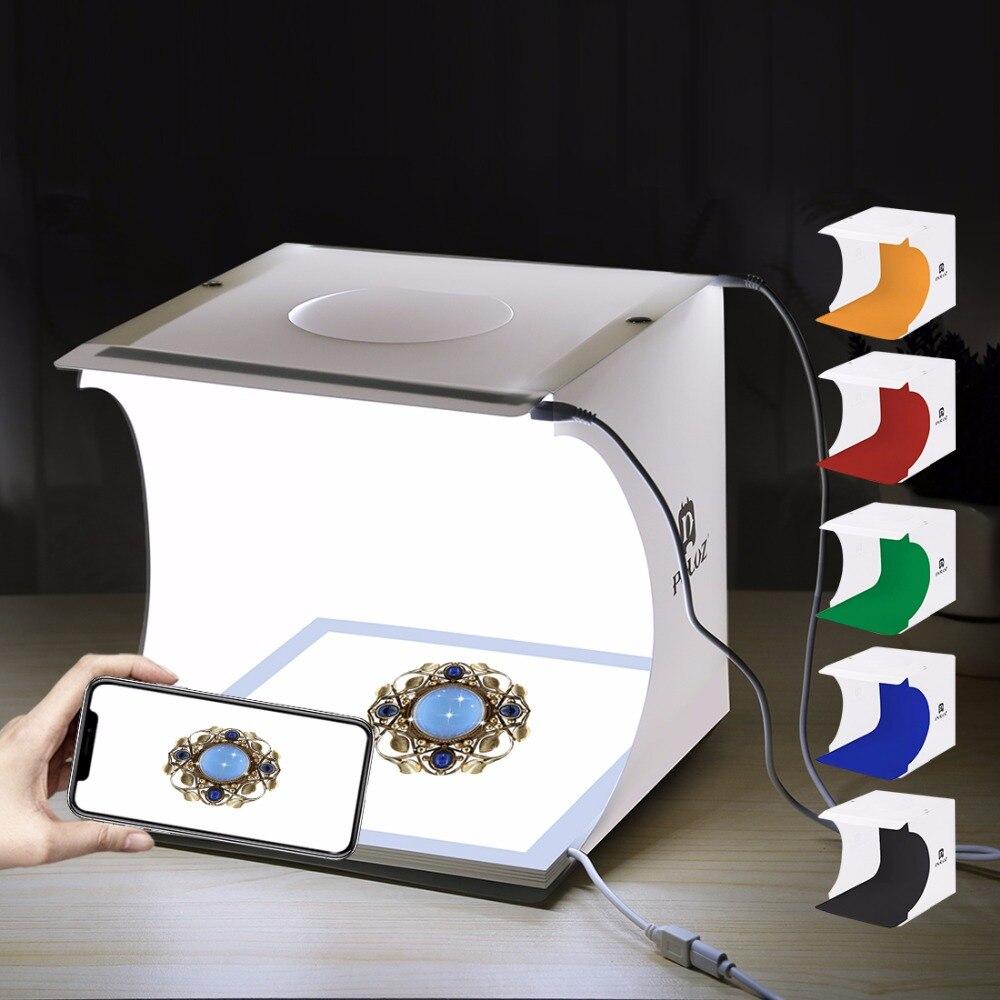 PULUZ Mini led Photographie Sans Ombre répéteur hdmi Panneau Pad + Studio Tir boîte de tente lightroom Studio Softbox lightbox