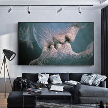 SOURBAN Couple Kiss Abstract Wall Art On Canvas Prints Modern Sweet Home Decorative Pictures For Living Room Cuadros Decor