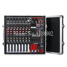 600W+600W High Power Amplifier Powered Audio DJ Mixer 7 Channel 16 DSP Reverb Effect 7 Road Air Box Mixing Console