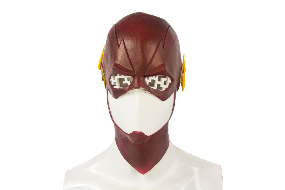 ManLuYunXiao The Flash Mask DC Movie Cosplay Costume Prop Halloween Full Head Latex Party Masks Wholesale