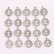 400pcs      14.7x11.7mm Antique Silver Saint Benedict Medal Cross Smqlivb Spacer Beads Pendants Alloy Handmade Jewelry DIY L1691