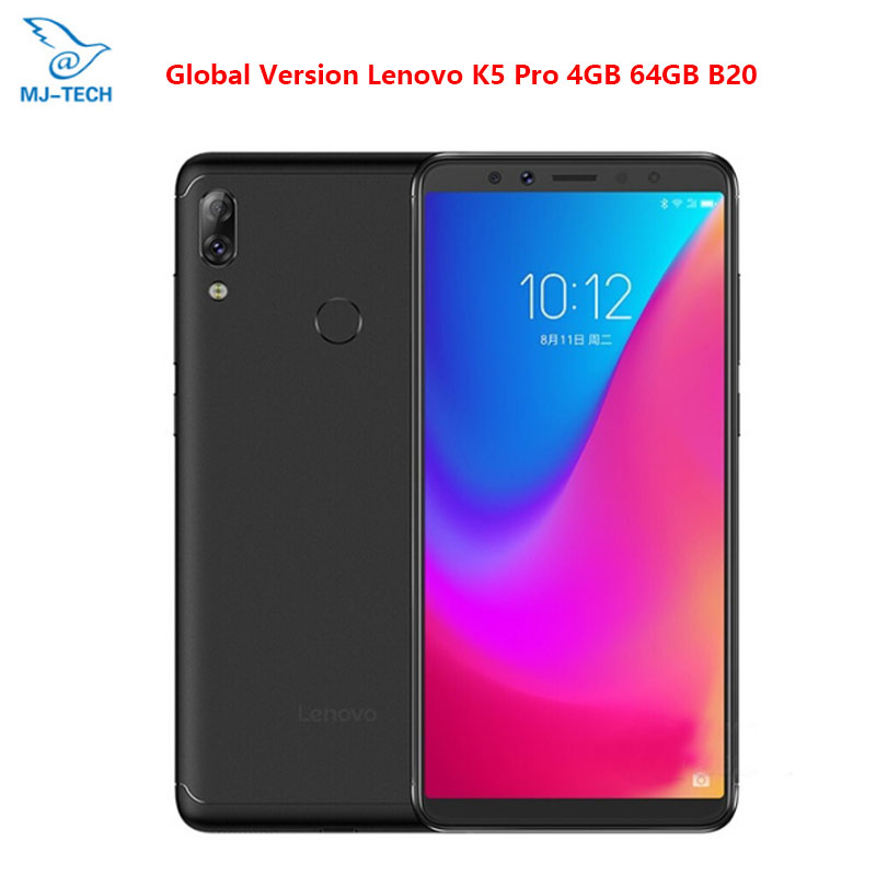 "Fein Globale Lenovo K5 Pro L38041 4g 64g Zui 4g Fdd Lte 5,99 ""zoll Handy Snapdragon Octa-core Dual Zurück Kamera Fingerprint Telefon Dinge Bequem Machen FüR Kunden"