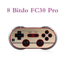 8 Bitdo FC30 Pro Controller Bluetooth Wireless Dual Joystick Classico per iOS Android Gamepad PC Mac Linux