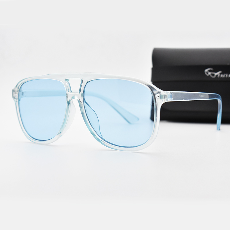 New Vintage Oversized Sunglasses Men Women Luxury Transparent Square Sun Glasses Big Frame Retro EyeWear UV400 sonnenbrille Top