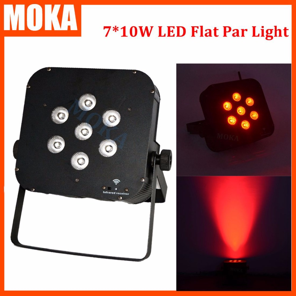 6pcs/lot dmx RGBW led par light wireless battery led disco light wedding decoration dj light waterproof