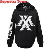 Kpop MONSTA X Hooded Hoodies Fleece Sweatshirt For Lover Long Sleeve Unisex Casual Jumper Pullover Autumn and Winter Coat