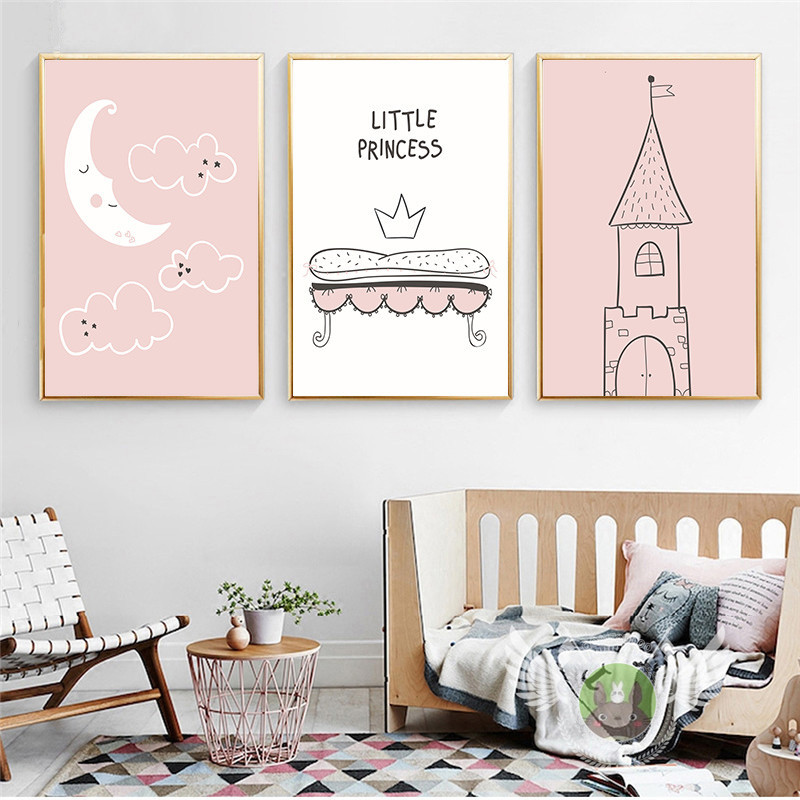 New Coming Cute Baby Wall Sticker Lovely Swing Princess Girl Stickers Diy Cartoon Cat Nursery Kids Rooms Decor Poster Sd090 Home Decor