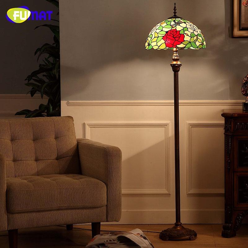 Fumat European Style Tiffany Floor Lamps Living Room Dragonfly